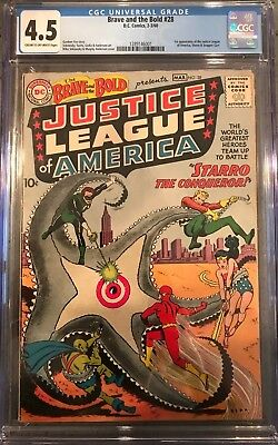 Brave and the Bold #28 CGC 4.5 1st app. of the Justice League!KEY ISSUE!L@@K!