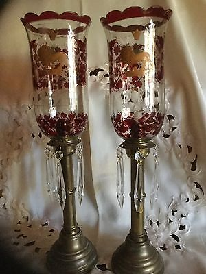 """Pair Russian Antique , 1833 Altar Candleholders  20"""" Sisovev Factory! Moscow$999"""