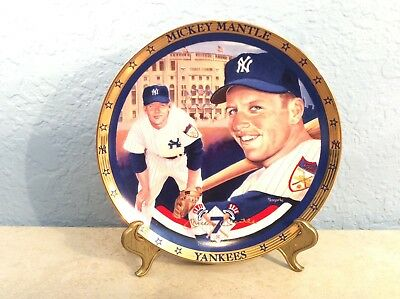 New York Yankees MICKEY MANTLE Signed Baseball Collector's Plate #0288A W/C.O.A.