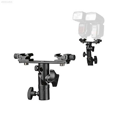 Double Ended E Type Flash Light Hot Shoe Bracket Mount Stand For DSLR Camera