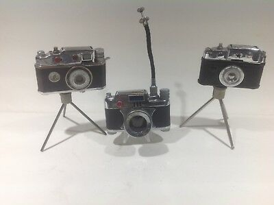 Lot Of Occupied Japan Figural Camera Lighters-Lucky Lite Telescopic Version Rare