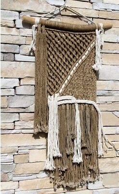 Bohemian Style Macrame Wall Art Coastal Home Decor
