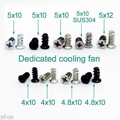 10pcs Durable Screws Computer PC Case Cooling Fan Mount Screws For Fans Optional