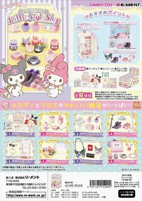 Re-Ment Sanrio My Melody and Kuromi Little Style Shop Complete Set
