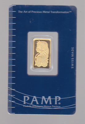 Pamp Suisse 5 Gram Fine Gold Bullion Bar 9999 certified A-365