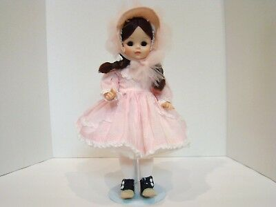 Vintage Madame Alexander Rebecca Doll In Tagged Dress
