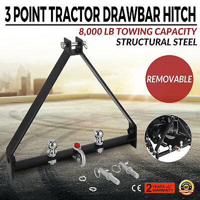 3 Point BX Trailer Hitch Compact Tractor Universal 8000lbs Capacity Attachments