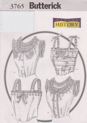 Butterick Pattern #3765 to make Historical Camisole Costume Sz 18-20-22