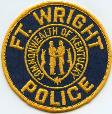 old vintage FORT WRIGHT KENTUCKY KY POLICE PATCH