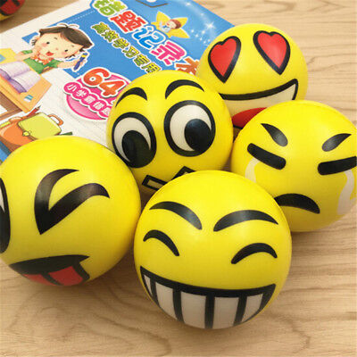 Emoji Smile Face Anti Stress Reliever Ball ADHD Autism Mood Toy Squeeze ReliefPB