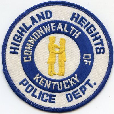 Highland Heights Kentucky Ky Police Patch