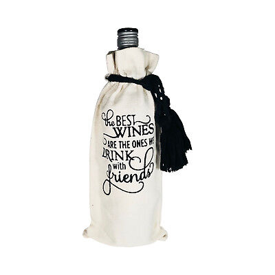 Wine Bottle Gift Bag With Quote - Any Occasion - Reusable
