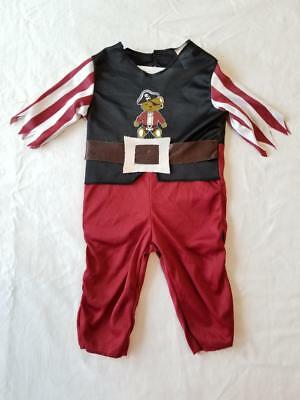 Bear Pirate Infant Halloween Costume Size 12-18 Months Red Black