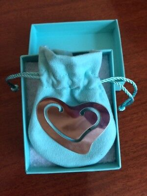 Tiffany & co. Peretti silver bookmark - heart **BRAND NEW IN BOX**