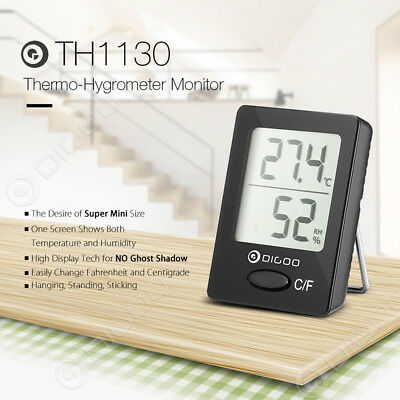 Digoo HD LCD Indoor Thermometer Hygrometer Temperature Humidity Magnet Meter