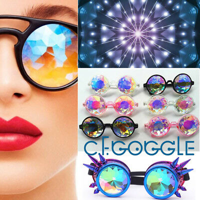 C.F.GOGGLE Revel Cyber Goggle Lens Kaleidoscope Steampunk Cosplay Antique Spikes