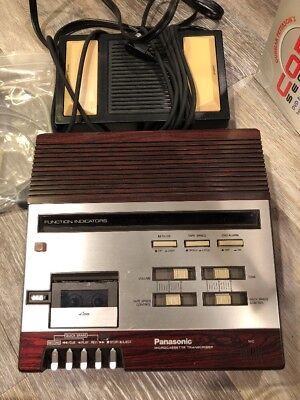 Panasonic Microcassette Transcriber RR-950 - Vintage - Complete With Pedal!