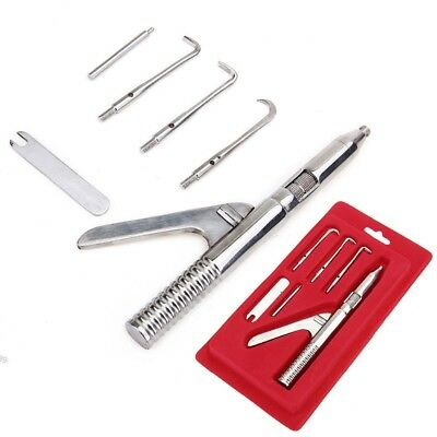 5set Automatic Singlehanded Crown Remover Stainless Steel Dental Surgical tools