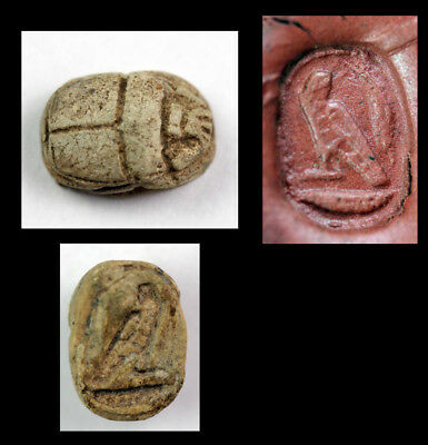 *sc*ancient Egyptian Scarab Seal, Dedicated To Horus, New Kingdom!