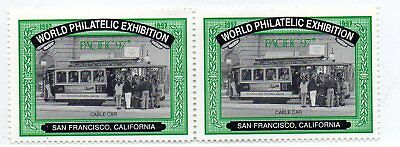 USA- World Philatelic Exhibition - San Francisco-Cable Car Cinderellas