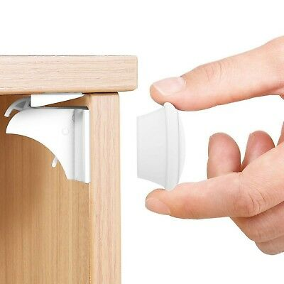 Invisible Magnetic Baby Safety Locks for Child or Pet Proof Cupboards, Doors and