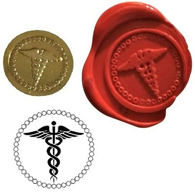 Caduceus Medical Doctors Wax Stamp Seal Kit or Buy Coin Only. XWS039B/XWSC373