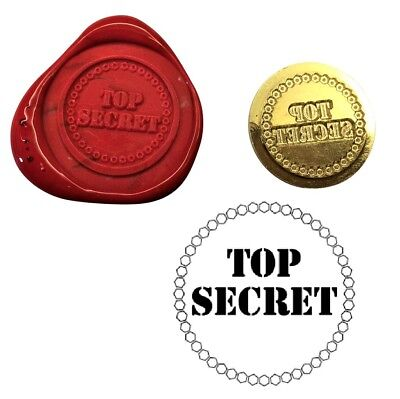 TOP SECRET, spys Wax Stamp Seal Starter Kit or Buy Coin Only. XWS039B/XWSC372