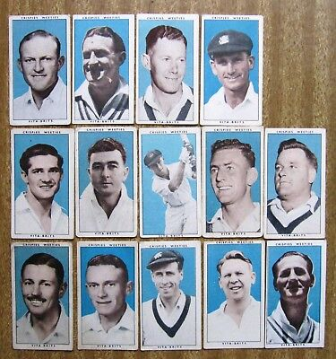 1948  Vita Brits Cards:  LEADING  CRICKETERS  x  14  +  Free Post