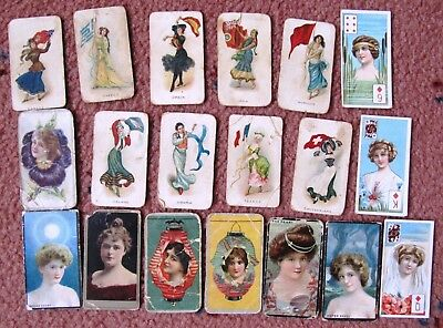 Mixed lot of Cigarette Cards:  LADIES  x  19  +  Free Post