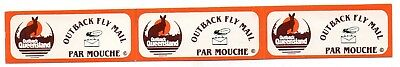 Australian- Outback Fly Mail -strip of 3 Unused