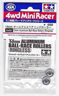 TAMIYA MINI 4WD ACCESSORI 13mm ALUMINIUM BALL RACE ROLLERS RINGLESS ITEM 15437
