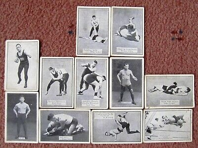 1926  Allen's Confectionary Cards:  ALLEN'S  WRESTLERS  x  11  +  Free Post