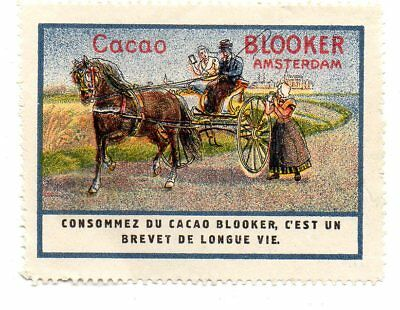 Blooker Amsterdam - Cacao - horse drawn cart- Cinderella Satmp