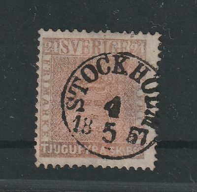 Sweden 1855 Michel # 5 Signed Roumet vf used