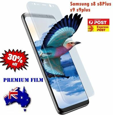 2x PREMIUM HYDROGEL Crystal Screen Protector Samsung Galaxy S9 S8 Plus Note 8 9