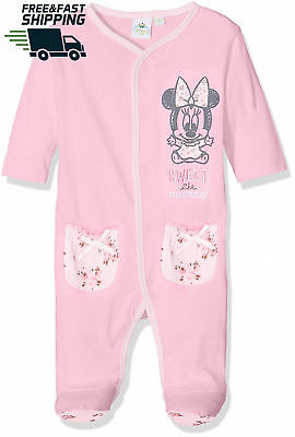 Disney Baby Girls' Minnie Mouse Sweet Sleepsuit 9-18mths Brand New in Gift Box