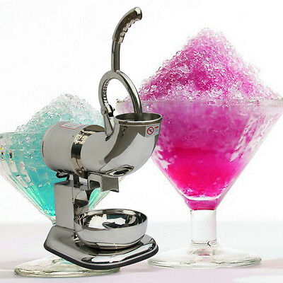 Electric Ice Shaver Machine Snow Cone Maker 440lbs Ice Crusher Shaving 220W 110V