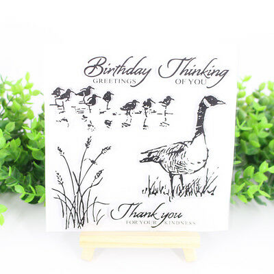 Wild Duck Transparent Clear Stamps for DIY Scrapbooking Card Making Kids