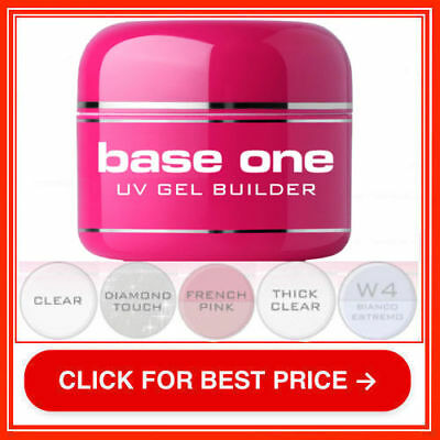 Base One Clear W4 Diamond Touch Thick French Pink UV Gel Nail BUILDER Silcare