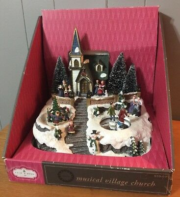 Musical Lighted Christmas Village Church With Music And Movement