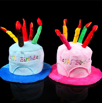 Novelty Birthday Candles Hat Party Gift Present Idea Funny 21st 30th 40th 50th