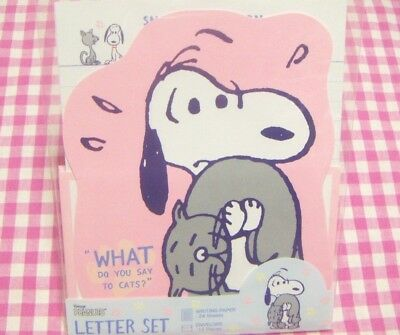 Sun-Star / Peanuts Snoopy meets Faron Letter Set / Japan Stationery 2018 Pink