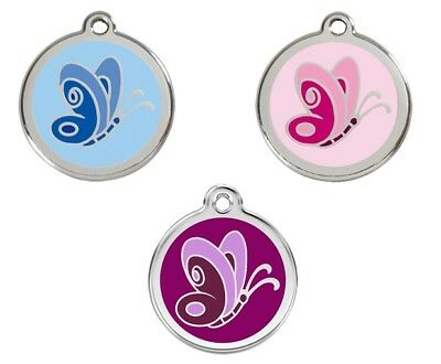 "BUTTERFLY Pet ID Tags Great as Dog ID tags and Cat ID tags Small 3/4""/ 20mm"