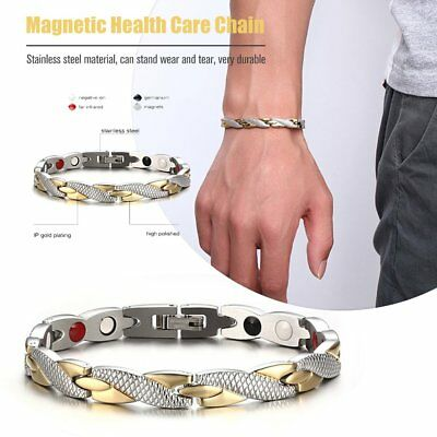 Bio Titanium Steel Magnetic Therapy Bracelet Health Care Gift Trendy Charming BU
