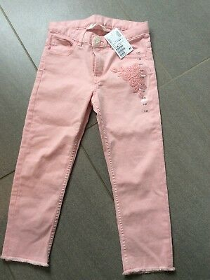 BNWT Girls H&M Pink Jeans Age 7-8 Years
