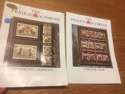 Lot 2 Prairie Schooler Cross Stitch LEAFLETs