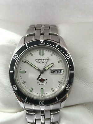 Citizen Men's  Vintage Automatic 21 Jewels Day/Date Automatic steel 866082 watch