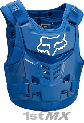 Fox Proframe Motocross MX Offroad Race Body Armour Blue Adults Large XLarge