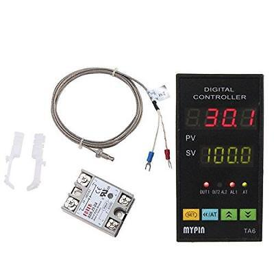 Universal Digital PID Temperature Controller With Relay DIN 1/8 SSR-25DA 7 Out