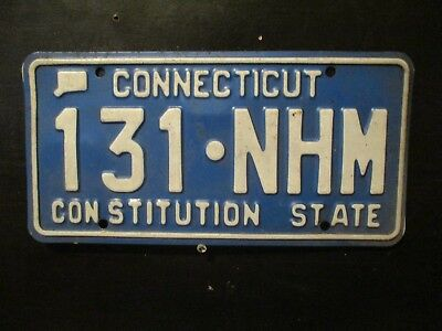 "Connecticut License Plate  ""Consititution State""       131-NHM"